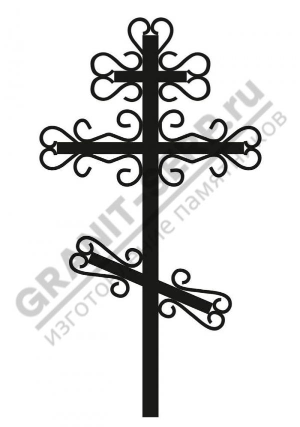 Крест метал. 006