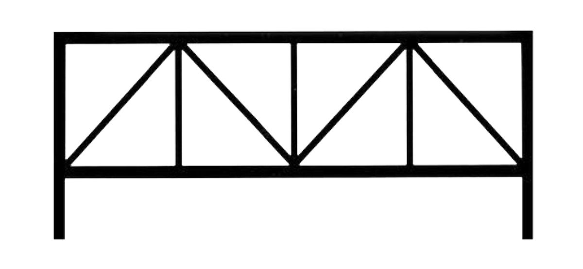 Ограда стальная № 027