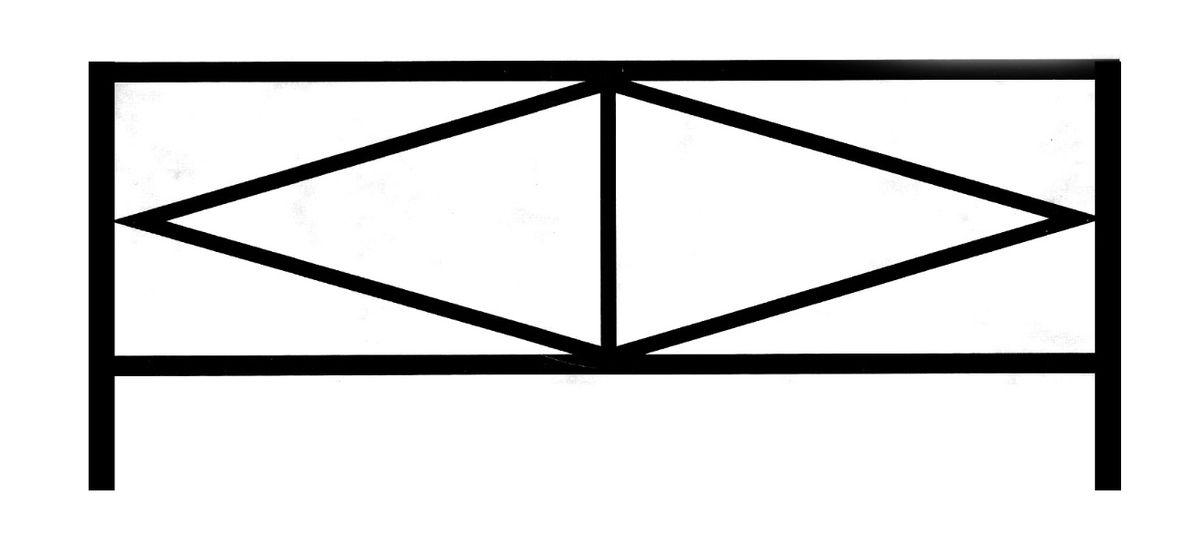 Ограда стальная № 028