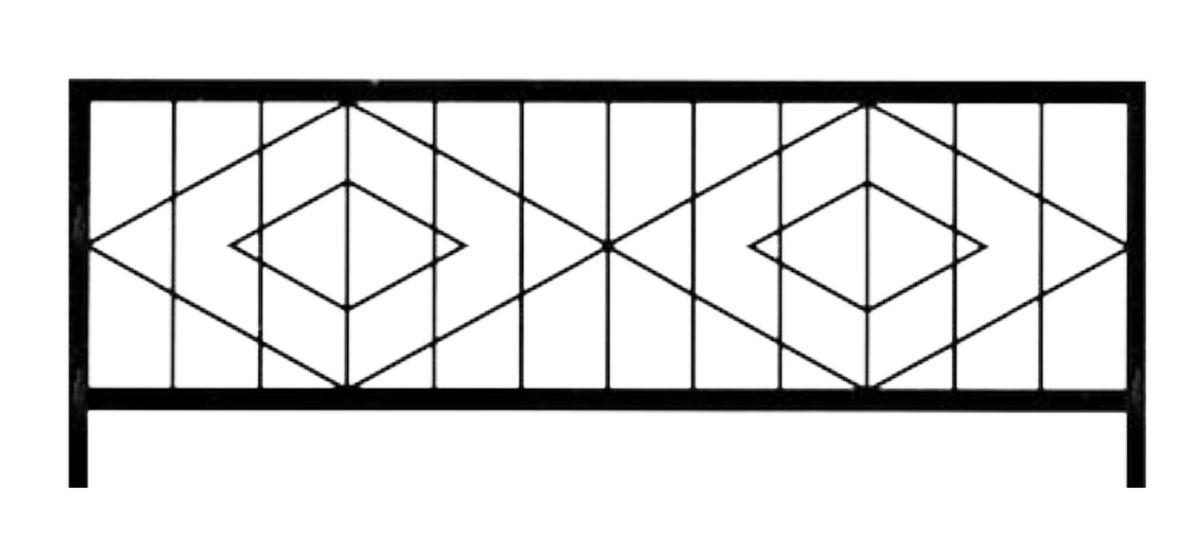Ограда стальная № 031