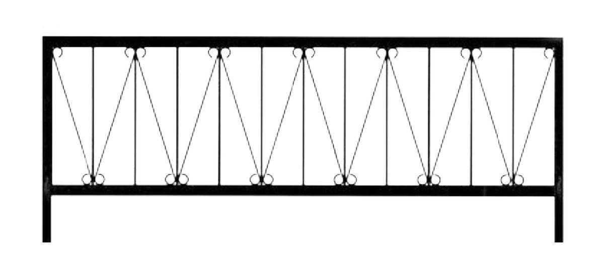 Ограда стальная № 032