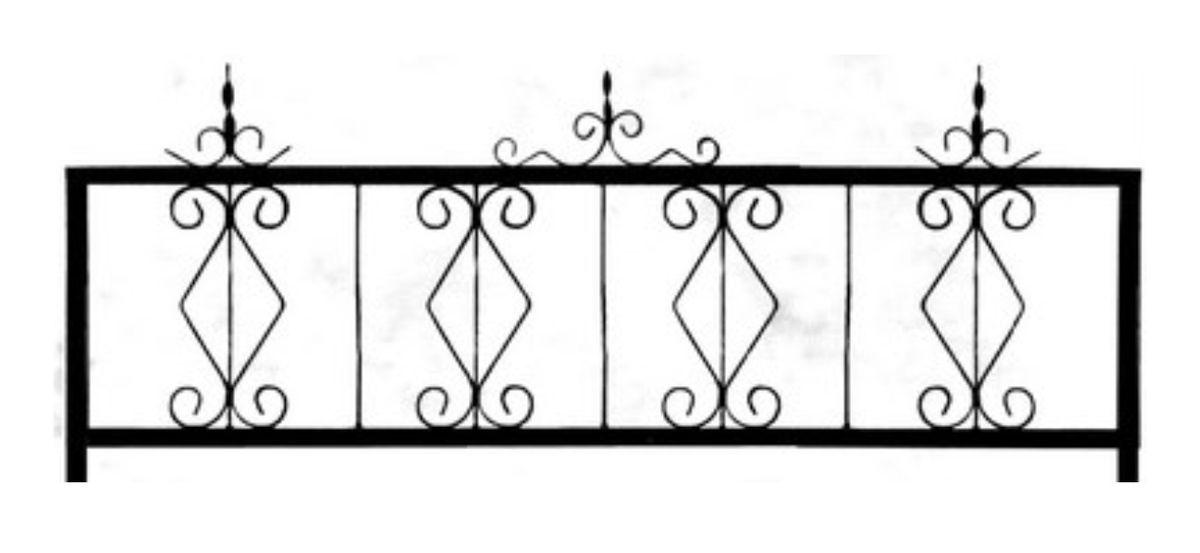 Ограда стальная № 034