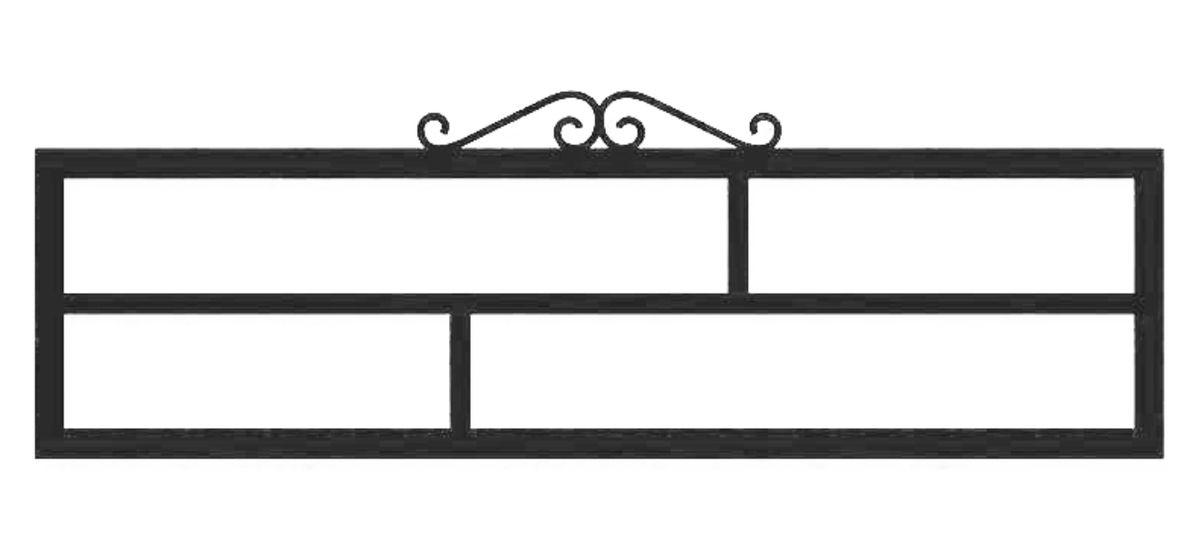 Ограда стальная № 039