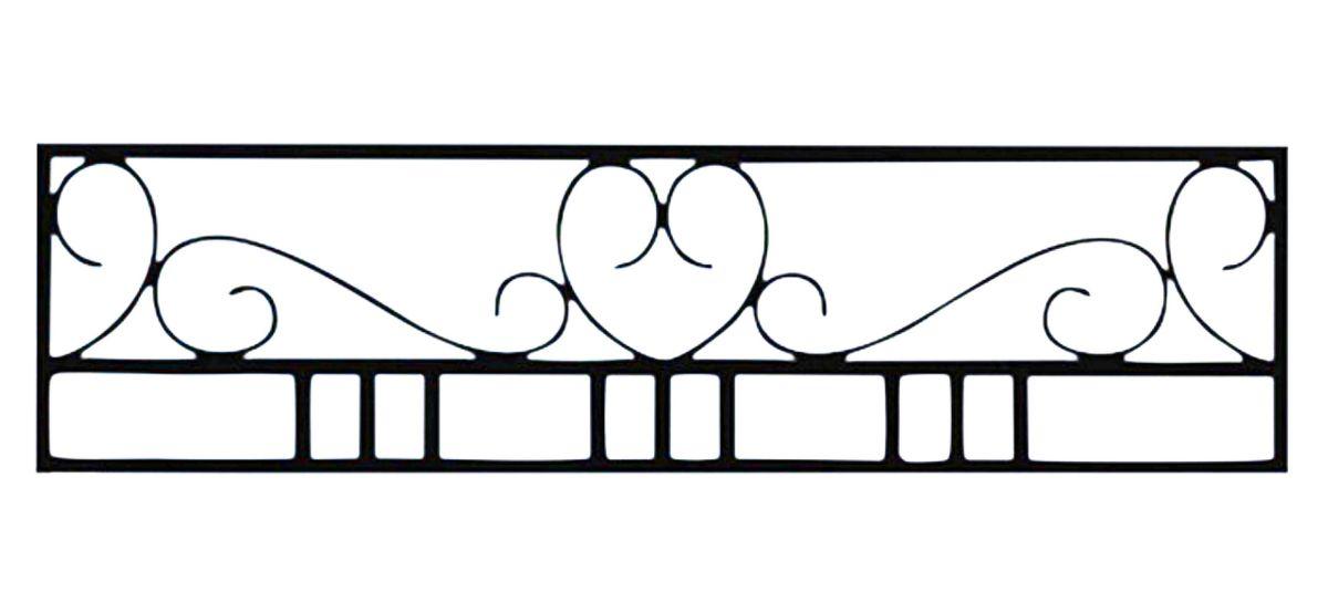 Ограда стальная № 048