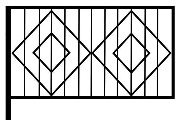 Ограда стальная № 54