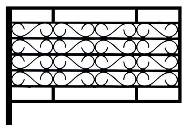 Ограда стальная № 056