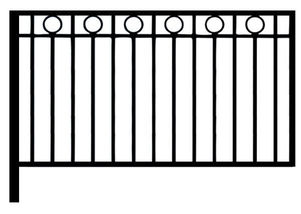 Ограда стальная № 057