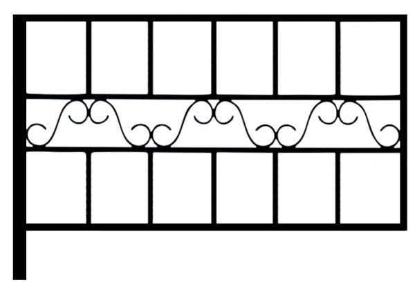 Ограда стальная № 058