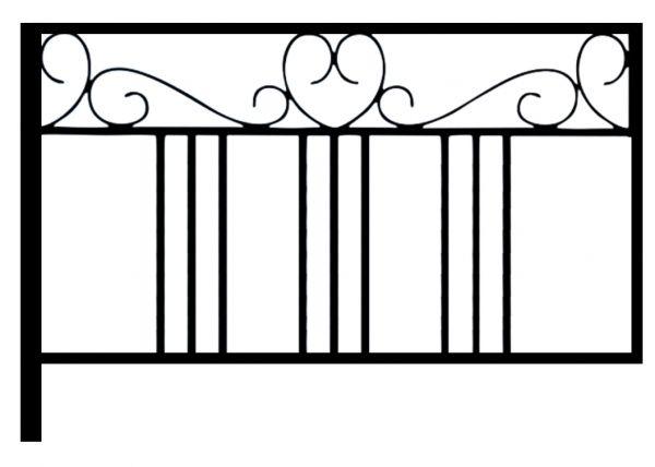 Ограда стальная № 059
