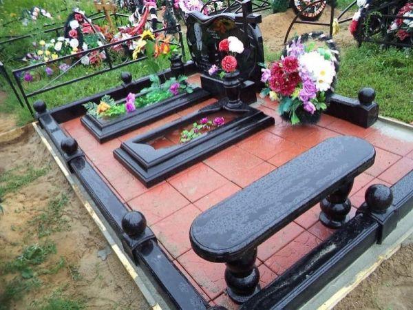 Цветник на могилу (Литьевой №004)