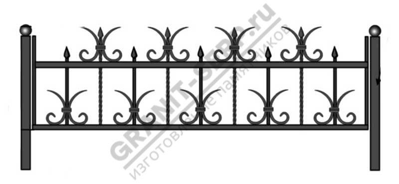Кованная ограда № 1
