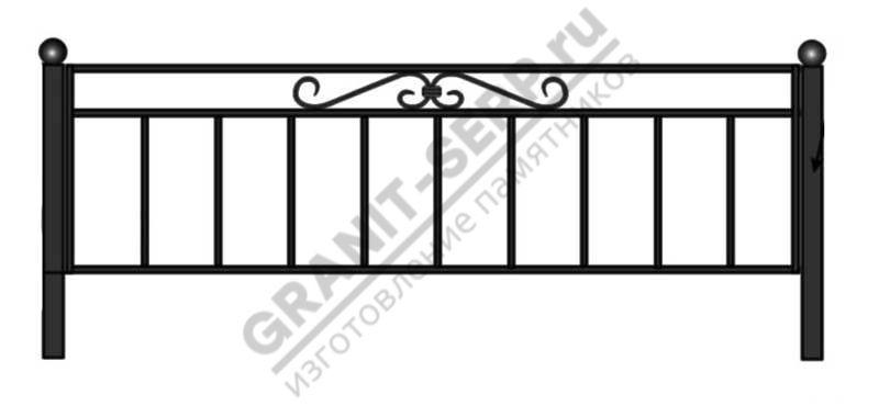 Кованная ограда № 13