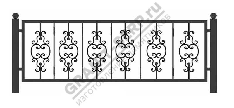 Кованная ограда № 19