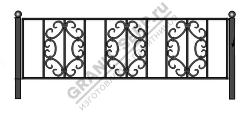 Кованная ограда № 4