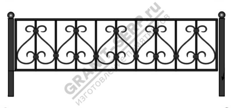 Кованная ограда № 6