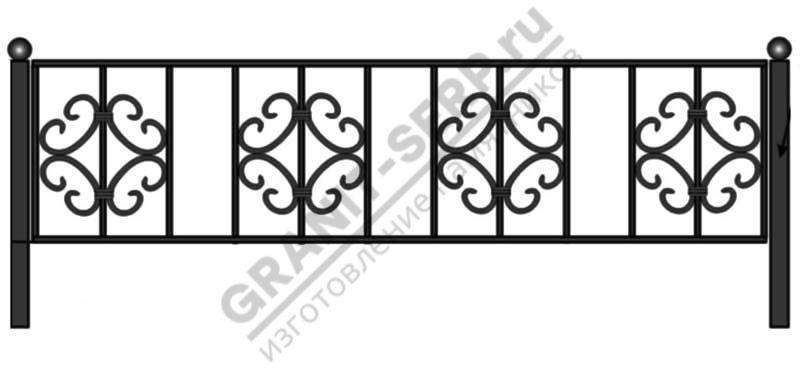 Кованная ограда № 7