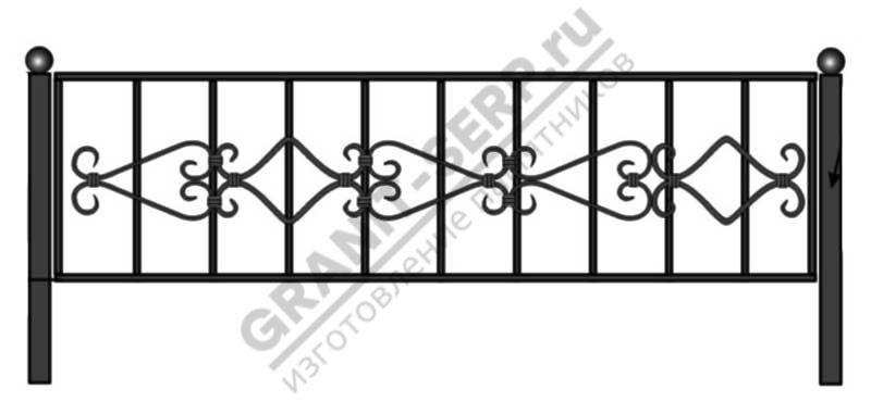 Кованная ограда № 8