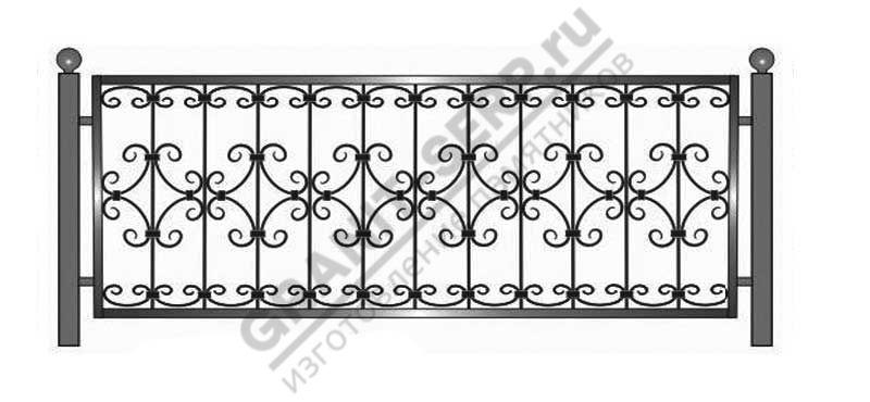 Кованная ограда № 24