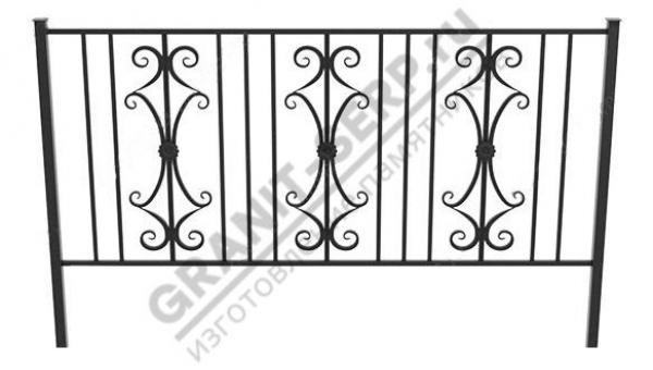 Кованная ограда № 25-01