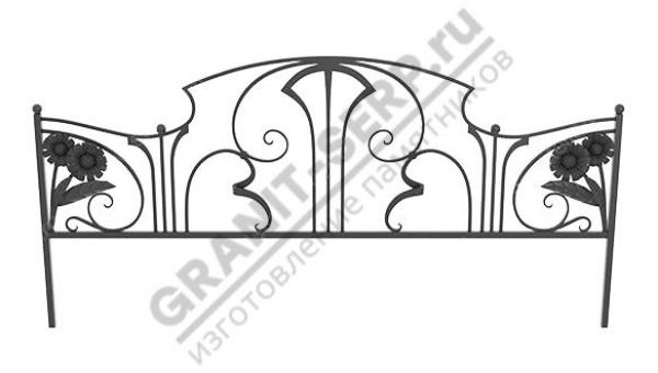 Кованная ограда № 25-015