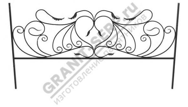 Кованная ограда № 25-06