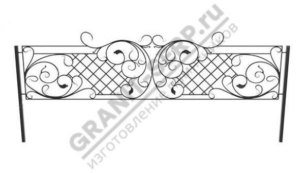 Кованная ограда № 25-07