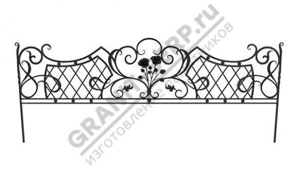 Кованная ограда № 25-09
