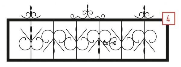 Ограда стальная № 4