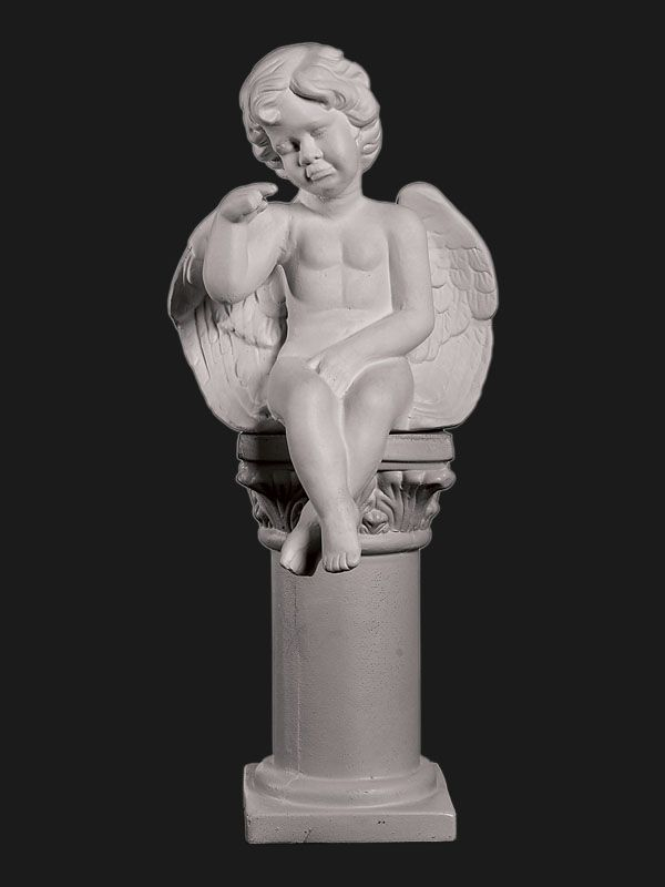 Скульптура из Литьевого мрамора №01 Ангел сидящий (плач.).