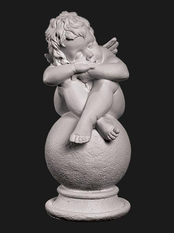 Скульптура из Литьевого мрамора №011 Ангел на шаре малый.