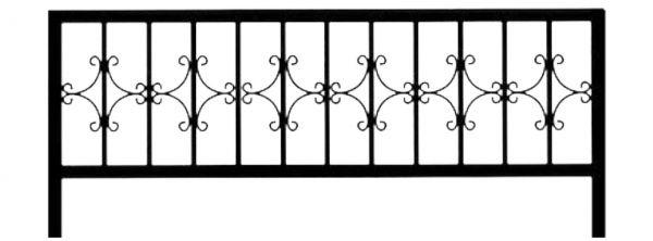Ограда стальная № 025