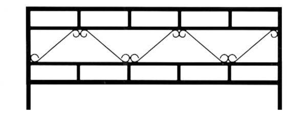 Ограда стальная № 030