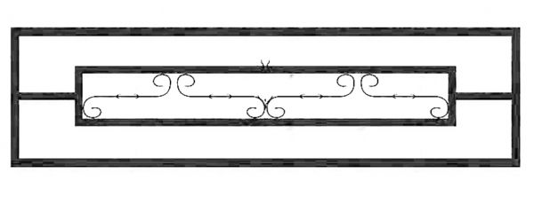 Ограда стальная № 037