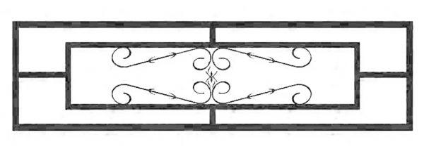 Ограда стальная № 038