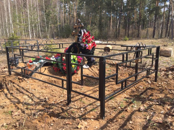Ограда стальная № 040