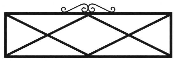 Ограда стальная № 041