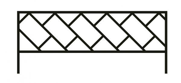Ограда стальная № 43