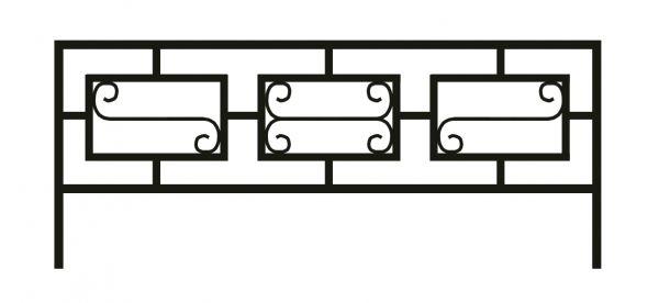 Ограда стальная № 044