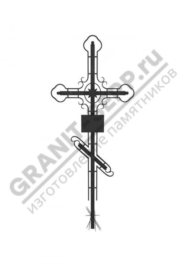 Кованный надгробный крест 001