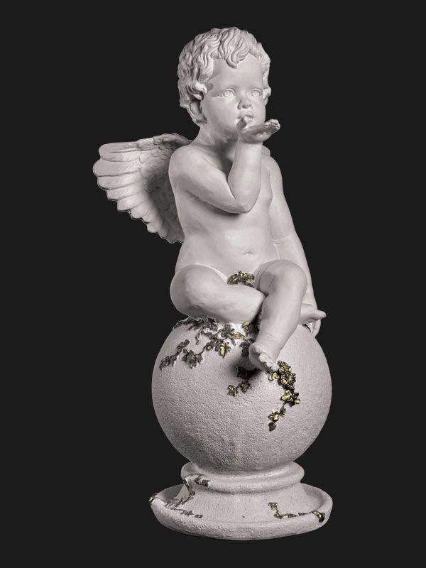 Скульптура из Литьевого мрамора №012 Ангел на шаре.